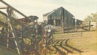 The barn and corral ... 50 years later.