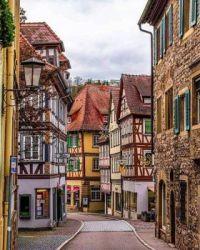 8.5  medieval old streets of Schwäbisch