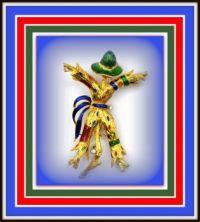 Scarecrows - Colorful Vintage Brooch