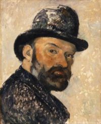 Paul Cézanne--Self Portrait in a Bowler Hat, 1885-86