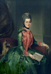 Johann Georg Ziesenis der Jüngere Portrait of Princess Frederika Sophia Wilhelmina ± 1768-1769