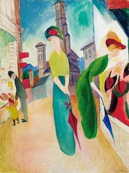 """Window shopping""  by August Macke"