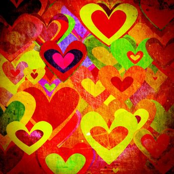 colourful hearts