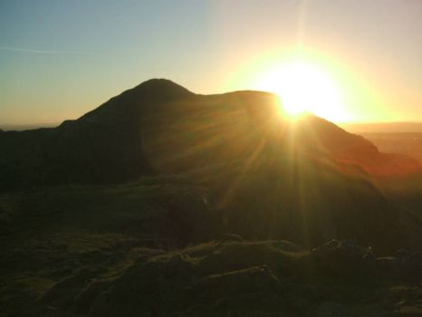 Sunrise over Arthur's Seat, Edinburgh