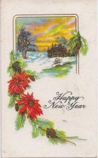 New Year's Postcard, 1917