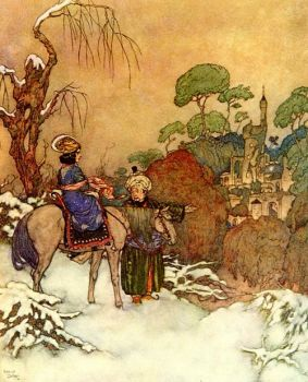 Beauty Saw the Castle in Distance by Edmund Dulac