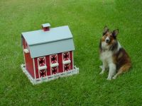 Birdhouse and Sheltie