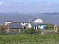 A farm on Flatholm Island, South Wales, United Kingdom