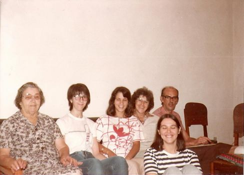1980 - My family and I, my best friend Rose at the center