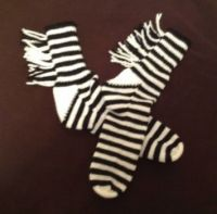zebra slipper socks