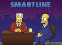 Kent Brockman and Homer Simpson