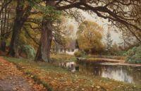 """Peder Mørk Mønsted,  """"Autumn Landscape"""", 1907"""