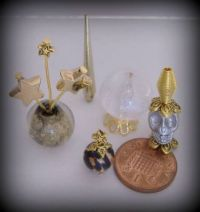 Crafts - Dolls Houses - 12th Scale Witch Halloween Set - Gold (Small)