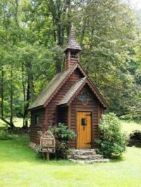 Tiny Church in The Woods