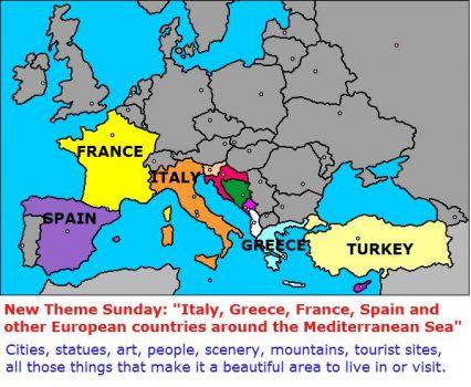 Solve New Theme Sunday Italy Greece Ect European Countries