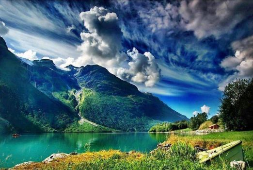 Geirangerfjord, Norway - photog unknown