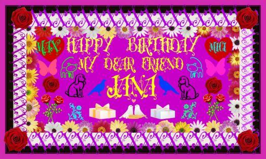 Happy Birthday Dear Jana 77 Pieces Jigsaw Puzzle