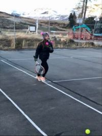 Never too cold for tennis