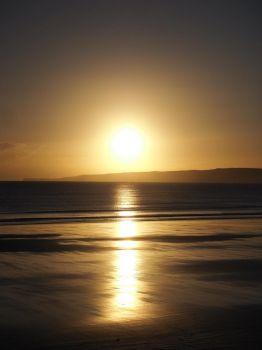 Sunrise Jan 12th Flamborough Head from Filey Bay