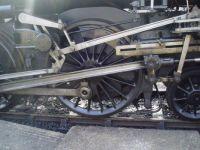 Steam engine traction wheel