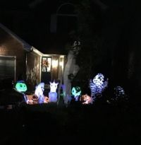 Early Halloween decorations at one of my neighbours