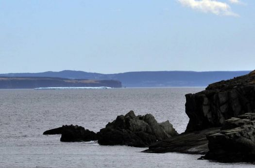 Iceberg - 15 miles [approx. 24 km] away, Bay Roberts, NL