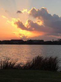 LSU at sunset