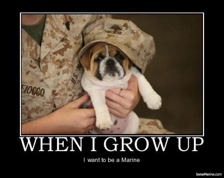 I WANT TO BE A  MARINE