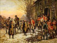 George Washington in front of Nassau Hall