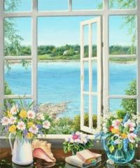 IDYLLIC WINDOW VIEW