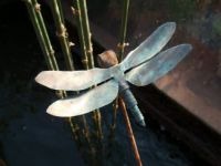 Copper Dragonfly with patina!