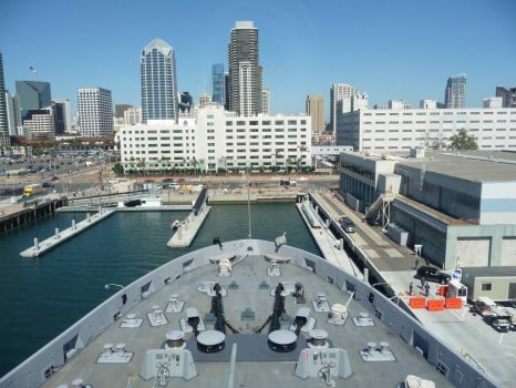 from the uss san diego of sd