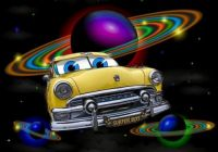 1951 Ford Cartoon Outer Space