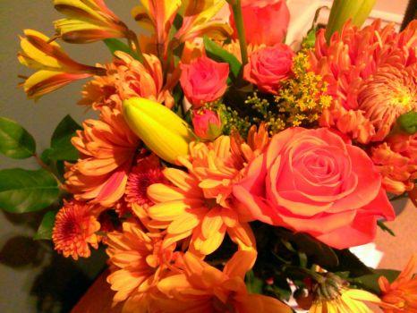fall flower boquet