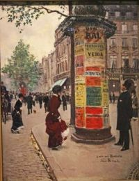 Paris Kiosk, by Jean Beraud , in the collection of the Walter's Art Museum, Baltimore