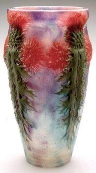 Glass Thistle Vase, Gabriel Argy-Rousseau, about 1910