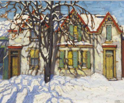 Houses on Gerrard Street, Lawren Harris