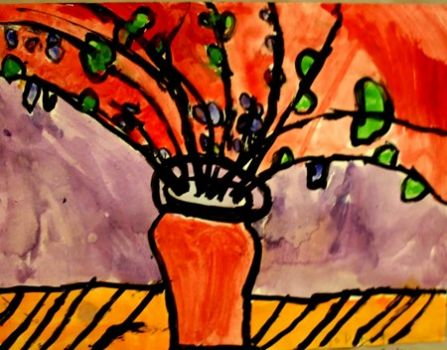 """""""Still Life"""" painted by my 7 yr old granddaughter"""