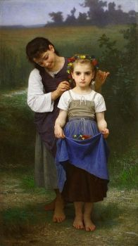 Crown of Flowers 1884 William Bouguereau
