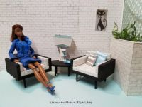 Miniature furniture in 1:6 scale for Barbie and 12 inch action figures
