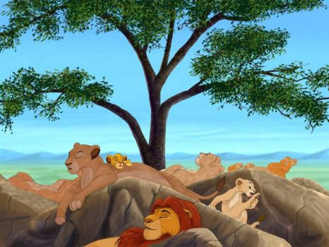 Lion King nap time