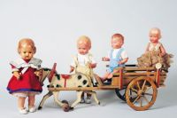Off To Market ~ A Family Of Cute Celluloid Dolls