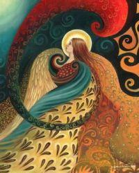 Feather Goddess Art Poster