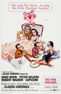 THE PINK PANTHER - 1964 POSTER  DAVID NIVEN,PETER SELLERS,ROBERT WAGNER,CAPUCINE,etc.