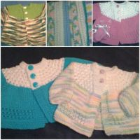 Sweaters, booties, and baby blankets for Bundles of Love: Medium