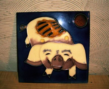 Chinese pig tile