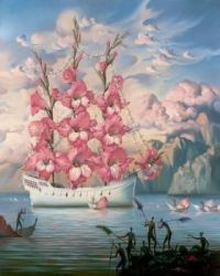 Salvador Dali Arrival of the Flower Ship