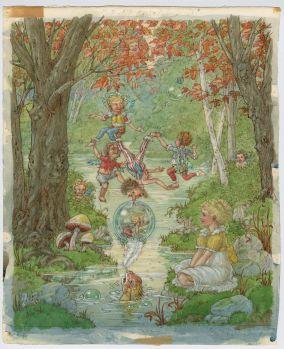 British children's book painting