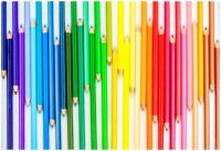 Rainbow Pencil Art Hearts