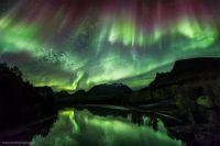 For Milady Kate: Aurora over Signalelva River, Oteren, Norway 20 Sept 2012 (Medium)